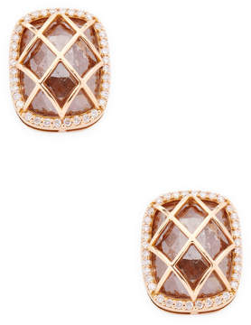 Artisan Women's Designer Cushion-Cut Diamond Stud Earrings