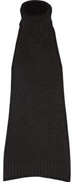 Chalayan Open-Back Merino Wool And Cashmere-Blend Turtleneck Top