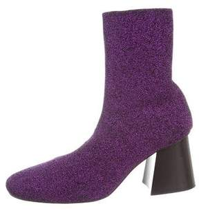 Celine Metallic Knit Ankle Boots
