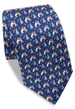 Salvatore Ferragamo Polar Bear Silk Tie