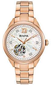 Bulova Women's Rosetone Automatic Movement Watch