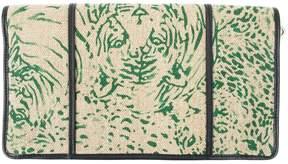 Chloé Green Cloth Clutch Bag