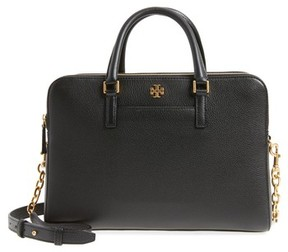 Tory Burch Monroe Leather Satchel - Black - BLACK - STYLE