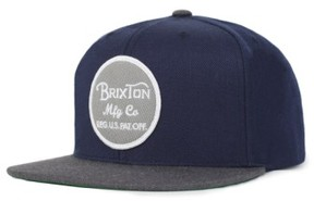 Brixton Men's 'Wheeler' Snapback Cap - Blue