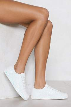 Nasty Gal Shine of the Times Glitter Sneaker