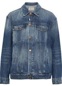 Current/Elliott The Boyfriend Trucker Distressed Denim Jacket