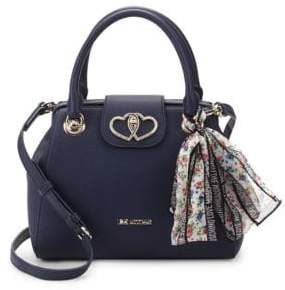 Love Moschino Scarf Faux Leather Top Handle Bag