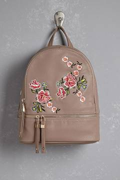 FOREVER 21 Floral Embroidered Mini Backpack