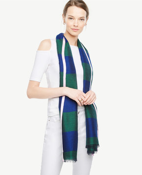 Ann Taylor Striped Scarf