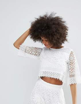 Darling Crochet Lace Cropped Top
