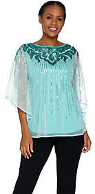 Bob Mackie Bob Mackie's Sequin Caftan Top and Knit TankSet