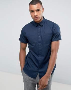 Selected Regular Military Short Sleeve Shirt