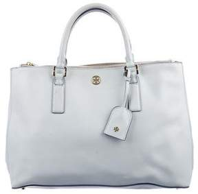Tory Burch Robinson Double-Zip Tote - BLUE - STYLE