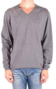 Sun 68 Men's Mcbi286176o Grey Wool Sweater.