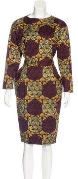 Stella Jean Long Sleeve Midi Dress