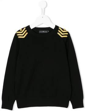 John Richmond Kids arrow shoulder applique sweatshirt