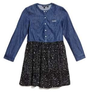 GUESS Girl's Denim Two-Fer Dress (7-16)