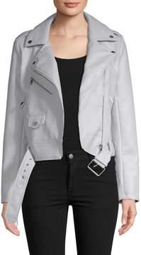 Bagatelle Women's Faux Leather Motorcycle Jacket
