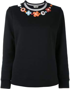 Fendi floral embroidered sweater