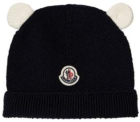 Moncler Black Knitted Beanie with Animal Ears