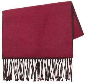 Topman Burgundy And Charcoal Scarf