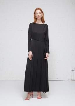 Cédric Charlier Long Sleeve Pleated Dress