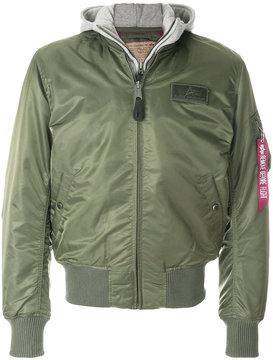 Alpha Industries pocket detail bomber jacket