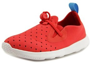 Native Apollo Moc Youth Round Toe Canvas Red Sneakers.