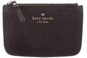 Kate Spade Leather Zip Pouch - BLACK - STYLE