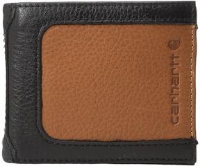 Carhartt Black Tan Billfold Wallet Wallet Handbags