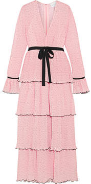 Alice McCall Now Or Never Tiered Swiss-dot Chiffon Maxi Dress - Pastel pink