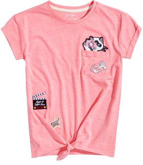 Jessica Simpson Olivia Patches Pocket T-Shirt, Big Girls (7-16)