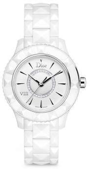 Christian Dior VIII Diamond & White Ceramic Bracelet Watch