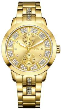 JBW Lumen Gold Dial 18K Gold-Plated Stainless Steel Diamond Ladies Watch