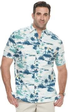 Croft & Barrow Big & Tall Regular-Fit Crosshatch Button-Down Shirt