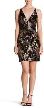 Dress the Population Women's Jordyn Plunge Sequin Body-Con Dress
