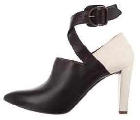 Balenciaga Pointed-Toe Ankle Strap Booties