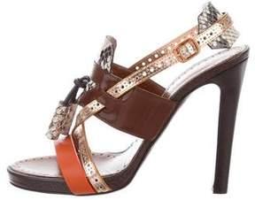 Proenza Schouler Leather Multicolor Sandals w/ Tags