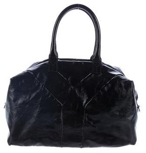 Saint Laurent Patent Leather Easy Tote - BLACK - STYLE