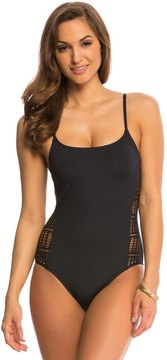 Anne Cole Color Blast Lace Crochet One Piece Swimsuit 8137579