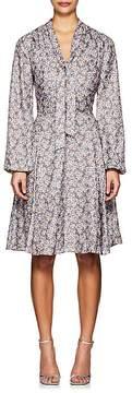 Barneys New York WOMEN'S FLORAL LONG-SLEEVE DRESS