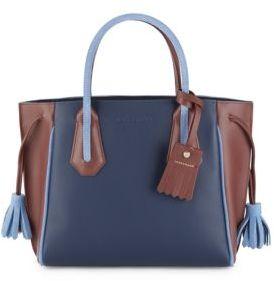 Longchamp Penelope Leather Tote - BLUE - STYLE