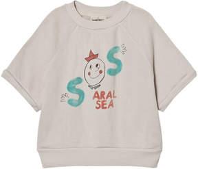 Bobo Choses Grey S.O.S Aral Sea Print Sweatshirt