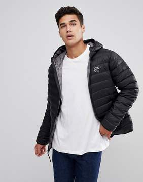 Hollister Lightweight Down Jacket Hooded in Black