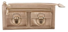 Marc Jacobs Metallic Leather Wallet - GOLD - STYLE