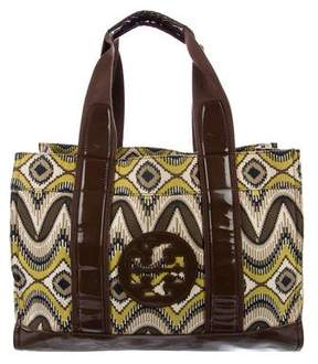 Tory Burch Printed Canvas Tote - BROWN - STYLE
