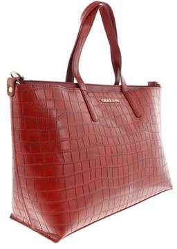Versace Ee1vqbbs1 E500 Shopper/tote Bag- Subtle Signature Lettering Red Shopper/tote.