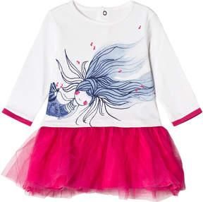 Catimini White and Pink Mermaid Tutu Dress