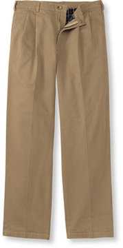 L.L. Bean Lined Double L Chinos, Natural Fit Pleated