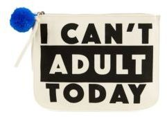 Cant Adult Canvas Verbiage Pouch